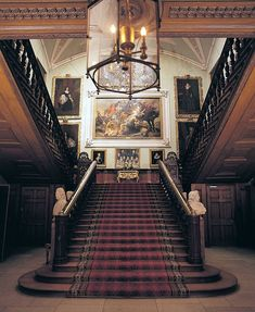 The staircase in Uncle Barlow's manor home.