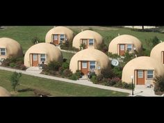 These tiny rentals are in Italy Texas. While their size is very efficient the shell itself is equally amazing. Go check them out at http://www.monolithic.org...