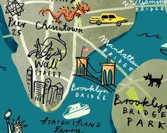 Christiane Engel - Scrapbook: New York, New York Maps For Kids, Little Ones, Childrens Books, New York, Scrapbook, Illustration, Children's Books, New York City, Children Books