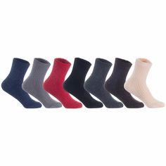 Lian LifeStyle Men's 4 Pairs Knitted Wool Blend Crew Socks LK08 Size Size 6-9 (Grey) Combat Boots Socks, Rain Boot Socks, Socks For Flats, Thigh High Tights, Thigh High Socks, Womens Wool Socks, Girls Knee High Socks, Black High Boots, Sport Socks