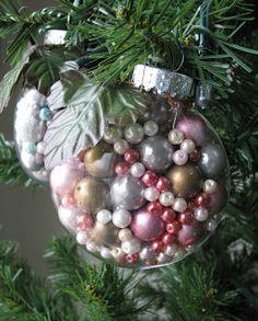 Free Time Crafts: DIY Pearl Christmas Ornaments!