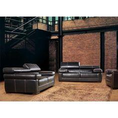 Adonis (381) Modern Leather Sofa Set - Sofas & Sets - Living Room