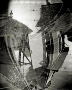 Pinhole No. 20  Original black and white pinhole photograph captured on large format film.