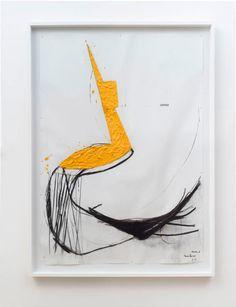 Nuno Ramos -  Proteu 2 vaselina, cera de abelha, pigmento, carväo tinta à oléo e carimbo sobre papel