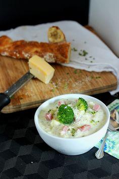 Ham Broccoli Cheddar Cheese Chowder