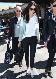 Here she comes: Kendall Jenner arrives in Nice ahead of the 67th annual Cannes Film Festival