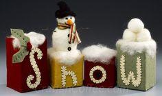 Cute snowman craft made with felt and Styrofoam