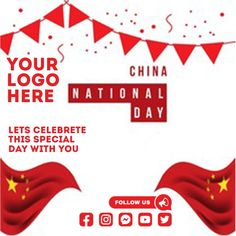 Customize this design with your video, photos and text. Easy to use online tools with thousands of stock photos, clipart and effects. Free downloads, great for printing and sharing online. Instagram Post. Tags: china, national day of the republic of china, national day of the republic of china 1st october, republic of china, Event Flyers, Chinese New Year , Chinese New Year Chinese New Year Poster, New Years Poster, China National Day, Event Flyers, Share Online, Beautiful Posters, New Year Celebration, Free Downloads, Social Media Graphics