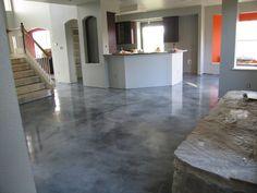 light blue grey concrete floor | Microcemento: a base de cemento de superposición, con un grosor de 1 ...