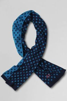Women's Reversible Dot Oversized Scarf from Lands' End