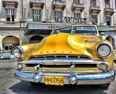 Yellow dodge - La Habana Vieja in Cuba..Re-pin brought to you by agents of #Carinsurance at #HouseofInsurance in Eugene, Oregon