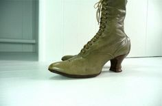 Victorian Lace up Booties by hannahmnt  super love