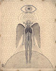 Daniel Martin Diaz, Self-Aware System Inspiration Art, Art Inspo, Art Sketches, Art Drawings, Art Noir, Alchemy Art, Esoteric Art, Art Vintage, Psy Art