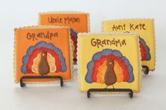 bee in our bonnet: Turkey Cookie Place Card Holders