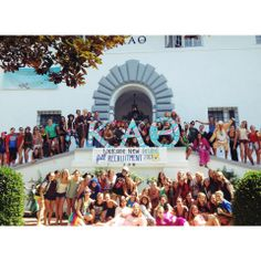 Have fun with your attire on Bid Day! Kappa Alpha Thetas at UCLA dressed in a multitude of costumes to welcome new members! #theta1870