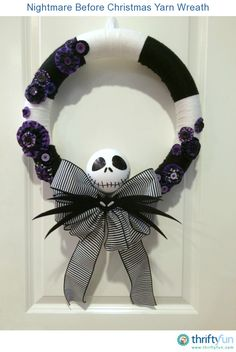 I love the Nightmare Before Christmas, but can't seem to find many themed decorations that I like. So I decided to make this wreath for Halloween...it came out better than I expected!