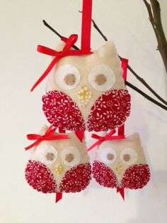 Red Owls, fit for the season :)  lightly padded 3 pounds each + postage