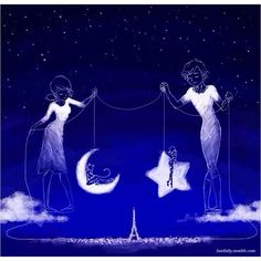 She hung the moon and he put up the stars <--- Absolutely beautiful.