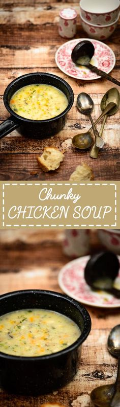 Chunky Chicken Soup. Chicken Soup is the ultimate comfort food for people everywhere. Whether taken during some wonderful times with family and friends, or during sickness and ill health, chicken soups can make any bad day seem better. #Chicken #Soup #Recipe #Healthy #Winter