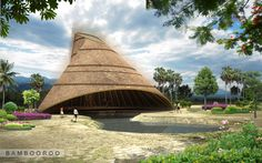 An artist's impression of the finished structure at the farm funded by #KUONI and build by #Bambooroo #bamboo