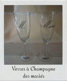 flûtes champagnes mariés