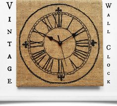 Vintage Wall Clock | Click Pic for 25 DIY Home Decor Ideas on a Budget | DIY Home Decorating on a Budget