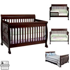 Convertible baby crib. Baby furniture ideas.