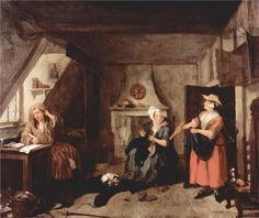 William Hogarth, The Distressed Poet, c. 1729 - 1736
