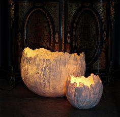 "Felt lamp ""Uovo"" by Judith Byberg, via Behance"