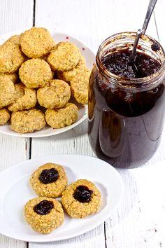 Piernikowe Ciasteczka z Płatków Jaglanych z Powidłami Just My Delicious