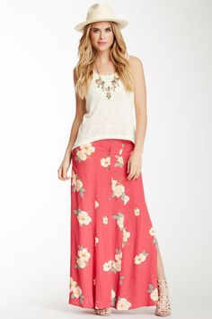 5f12d00a5aa0ad  Fashion Summer Style   Flower Effect Maxi Skirt