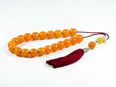 Old 1900-1920 Vintage Faturan Orange Mastic Amber Worry Beads Greek Komboloi|23 Beads | 15x15mm 67gr|Sudurus by TheBeadedGardencom on Etsy