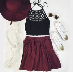 love the matching hat and skirt, and the lace style on the top. good colors too!