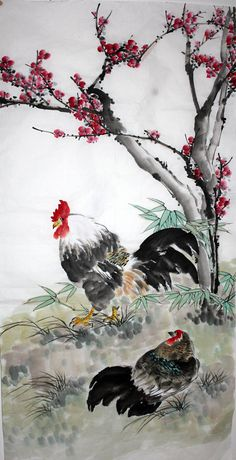 Chinese Painting: Chicken - Chinese Painting CNAG235411 - Artisoo.com