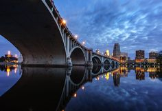 Under and Over by Bob Israel on Capture Minnesota // Central Avenue Bridge with the Guthrie and Minneapolis skyline.