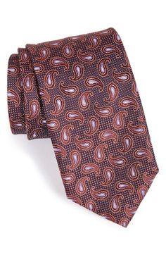 Men's Canali Paisley Silk Tie