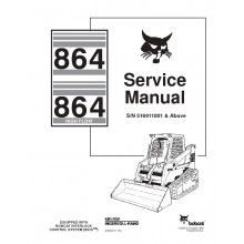 Bobcat 864, 864HF Track Loader Service Manual PDF