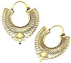 "Exotic Casted Brass Earrings - ""Seraphim""  http://www.bellydance.com/Exotic-Casted-Brass-Earrings--Seraphim_p_5478.html"