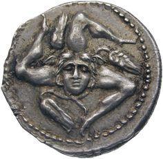 A Roman Civil War Coin, Roman Republic, 49 BCThis denarius was...