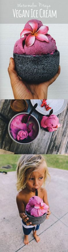 5 INGREDIENT NO APPLIANCE NEEDED to make creamy delicious plant based vegan ice-cream! Healthy Vegan Dessert, Low Carb Dessert, Raw Vegan Recipes, Vegan Dessert Recipes, Vegan Treats, Vegan Foods, Whole Food Recipes, Vegan Raw, Weight Watcher Desserts