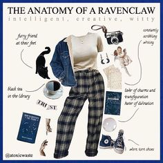 Posting twice in the same day? I don't feel like myself Ravenclaw, Estilo Harry Potter, Harry Potter Outfits, Aesthetic Fashion, Aesthetic Clothes, Harry Potter Kleidung, Outfit Invierno, Fandom Fashion, Fandom Outfits