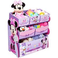 Price: Disney Multi-Bin Toy Organizer, Minnie Mouse:Minnie Mouse toy organizer is a suitable gift to get your child excited about putting away her toys Kids Storage, Toy Storage, Fabric Storage, Storage Chest, Storage Rack, Mini Mickey, Minnie Mouse Toys, Minnie Mouse Nursery, Minnie Mouse Room Decor