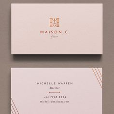 Create a classy and chic logo and business card for Maison C. by betiobca Graphic Design Flyer, Flyer Design, Branding Design, Business Branding, Business Card Logo, Business Card Design, Facebook Cover Design, Simple Business Cards, Custom Logos