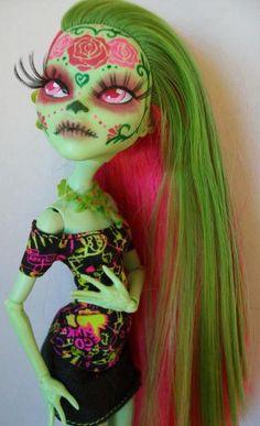 Monster High Custom Venus Day of the Dead Take 2 by macabredarling.deviantart.com on @deviantART