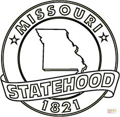 missouri state coloring page free printable coloring pages