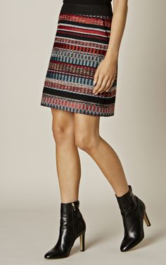 Karen Millen, ITALIAN TWEED SKIRT Multicolour