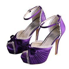 Wawoo®Women's Summer Stiletto Bridal Satin High Heels Sandals Evening Party Prom Bride Wedding Shoes with Amkle Strap Purple, http://www.amazon.ca/dp/B0111MWUSU/ref=cm_sw_r_pi_awdl_Y2OewbPRDTD7B