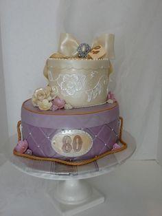 Vintage Hat Box Cake   https://www.facebook.com/TheSweetestThingCakesByGina
