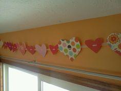 valentine hearts bunting