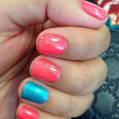 CND shellac- Tropix,Hotski to Tchotchke & Mother of Pearl glitter